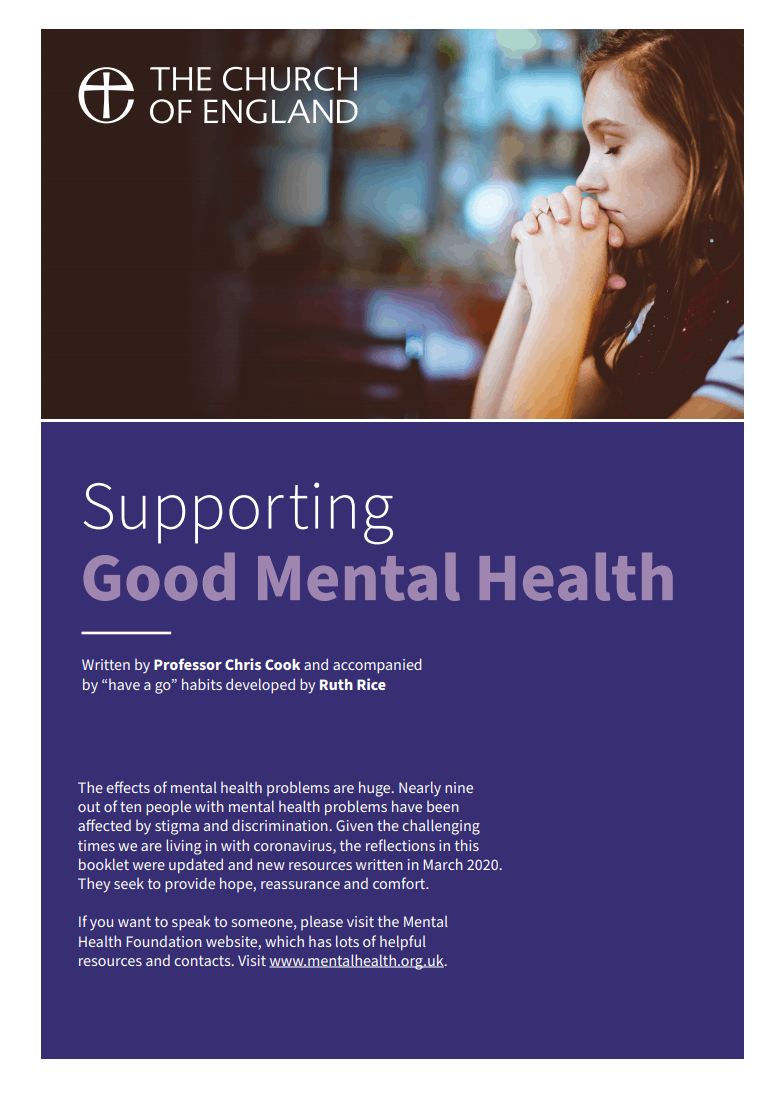 Supporting good mental health